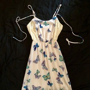 Almost Famous Butterfly Full Length Dress